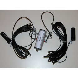 Model DPL27DX II, 3x1/2 wave wire dipole for 27 MHz + Choke balun