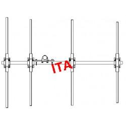 ITA4POM, Yagi 68/88 MHz robuste 4 éléments
