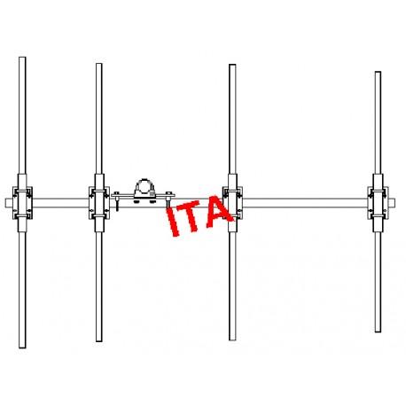 Y4-108136, Yagi 108/136 MHz robust 4 elements
