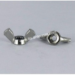 Stainless steel wing nut A2 M4