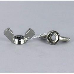 Ecrous à oreilles inox A2 M4