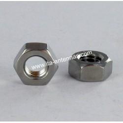Ecrous hexagonaux M4 inox A2 WAX/lubrifié