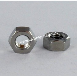 Hexagon nuts M6 stainless A2 WAX/lubricated