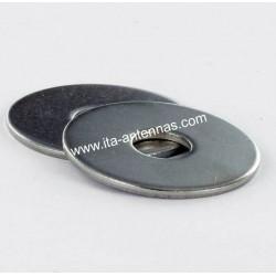 Rondelles plates larges M4 inox A2