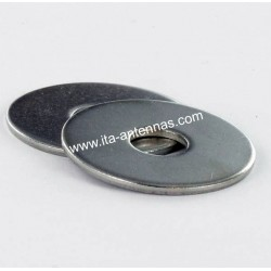 Flat washers wide M6 stainless A2