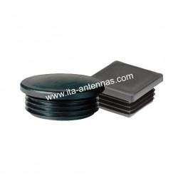 Plastic cap for 60 mm round tube