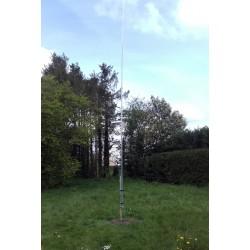 OTURA 3, verticale multibande HF de 8,25 m avec unun 1:4