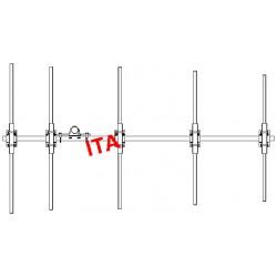 ITA5POM, Yagi 68/88 MHz robuste 5 éléments