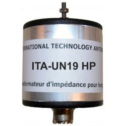 UN19 HP, unun de rapport 1:9 (50 Ω:450 Ω) Haute Puissance