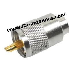 PL259/10, connecteur PL pour câble 10 mm