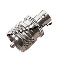 PL M/BNC F, adaptateur PL mâle/BNC femelle
