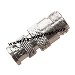 BNC M/N F, adaptateur BNC mâle/N femelle