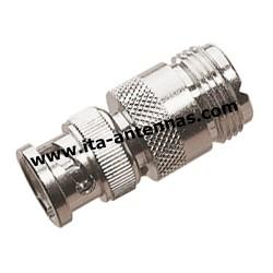 BNC M/PL F, adaptateur BNC mâle/PL femelle