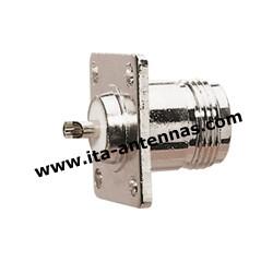 NC4T F, connecteur N châssis 4 trous femelle