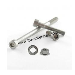 VIS_6P, vis métaux M6 6 pans + écrou en Inox A2 pour colliers STAUFF