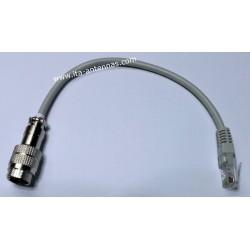 AC I8M-I8MRJ, short adapter 8-pin socket/8-pin RJ-45 ICOM