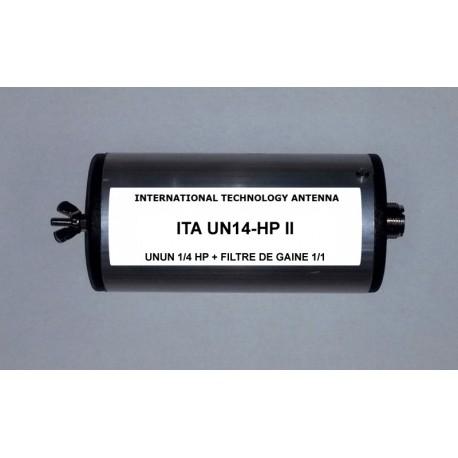 UN14-HP II, unun de rapport 1/4 + choke balun intégré