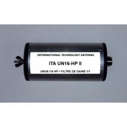 UN16-HP II, unun de rapport 1/6 + choke balun intégré
