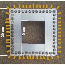 PR40+, kit plaque radians pour verticale