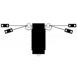 AERO3/6, double dipole Aviation 2 to 7 MHz + coaxial choke balun