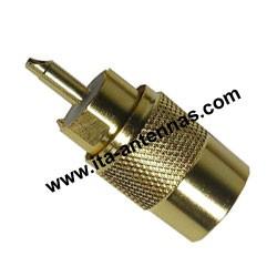 PL259/9D, connecteur PL doré pour câble 10 mm