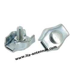 SCP6-1B, serre-câble plat 6 mm 1 boulon