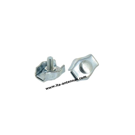 6 mm stainless steel simplex wire rope clip cable clamp - ITA-ANTENNAS