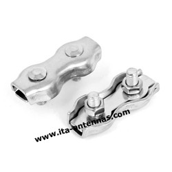 Double 4 mm stainless steel simplex wire rope clip cable clamp