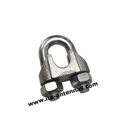 SC6, 6 mm stainless steel simplex wire rope clip cable clamp