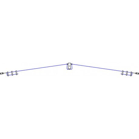 Model RX3000, SWL HF Dipole antenna